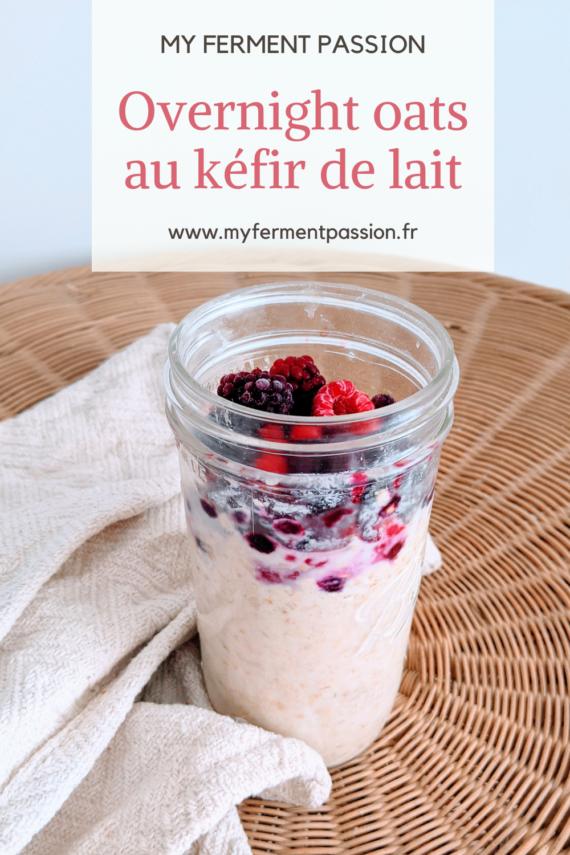 overnight oats porridge kéfir de lait