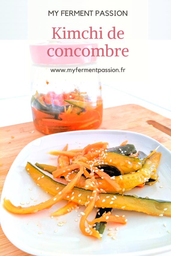kimchi concombre bocal graines de sésame